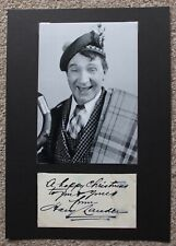 More details for harry lauder (scottish comedian) hand signed autographed card & mount with photo