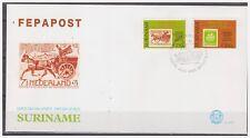 Surinam / Suriname 1994 FDC 177 FEPAPOST postkoets mail-coach timbre sur timbre