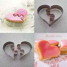1Set Love Heart Shape Metal Cookie Cutter Fondant Sugarcraft Baking Mold  DIY