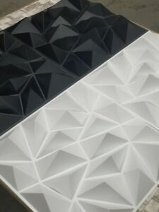 3D Decorative Interior Wall Panels Covering Diamond Plastic Cladding Tiles-50cm