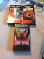 Lot of 3 Star Trek VHS Tapes - Star Trek Motion Pictures, Wrath Of Khan, Final