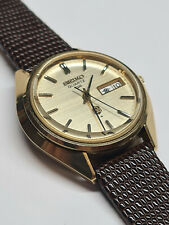SEIKO QR VINTAGE WATCH 3863 MOVEMENT KANJI 1974 RUNS GREAT GOLD DIAL LOVELY