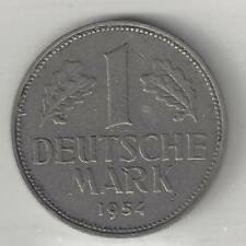 GERMANY, WEST,  1954-F,  1 MARK,  EXTRA FINE,  KM110