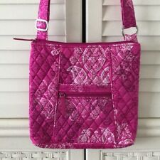 Vera Bradley Hipster Crossbody Bag Stamped Paisley Pink