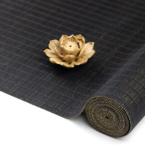 Tea Flag Table Runner Bamboo Woven Tablecloth Insulation Kitchen Placemat Black