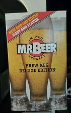 Mr Beer Micro Brewery Brew Keg Deluxe Edition Brown Plastic Keg Recipes Caps