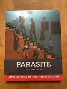 STEELBOOK BLU RAY ~ PARASITE~  LIMITED EDITION BLU RAY+ DVD+ CARD DA COLLEZIONE