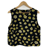 ASOS Womens Top Size 18 Floral Sleeveless Good Condition