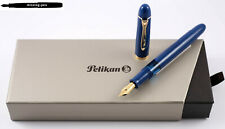 NEW Pelikan M120 Iconic Blue Fountain Pen SPECIAL EDITION 2018 / goldplated nib