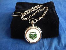 PORTLAND TIMBERS MSL AMERICAN SOCCER USA CHROME POCKET WATCH WITH CHAIN (NEW)