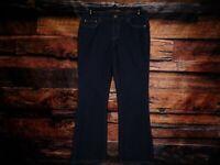 Calvin Klein Jeans Womens Size 12 Flare Fit Stretch Dark Wash Retail $89 34x31