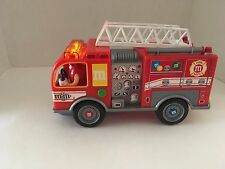 M&Ms Fire Truck Candy Dispenser Lights Up and Siren Sound No Box 2011 M&M