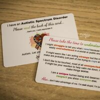 Autism/Asperger's Awareness Plastic Alert Card