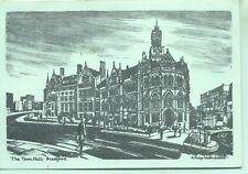 The Town hall Bradford Yorkshire A Philip Waterhouse sketch postcard