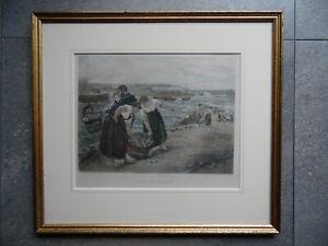 Caller Herrin', Skye.  H/Col Etching Otto Leyde, James Clarke Hook. c1884