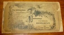Adventures of BACHELOR BUTTERFLY scarce Victorian-era comic RODOLPHE TÖPFFER