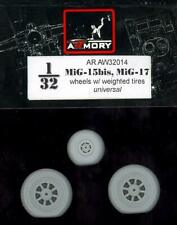 Armory Models 1/32 MIKOYAN MiG-15bis or MiG-17 WEIGHTED WHEEL SET Resin Set