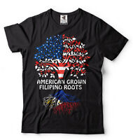 Philippines T-shirt American grown Filipino Roots Culture heritage Diaspora Tee