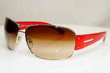 Authentic PRADA Mens Boxed Vintage Sunglasses Red Pilot SPR 61G 1BC-6S1 29723