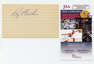 Ray Fisher Signed JSA COA Index Card Auto Autographed Autograph 1919 Cinn Reds