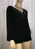LS COLLECTION BY LOVELY SPIRIT AUSTRALIA SIZE L2 BLACK BEADED TOP