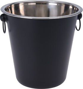 Black Ice Bucket Large Champagne Wine Beer Party Drinks Cooler