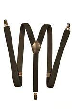Skinny Style fully adjustable Y-Shape Clip on Braces / Suspenders, 2cm - Black