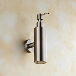 200ML Stainless Steel Bathroom Soap Dispenser Liquid Bottle Wall Mounted Holder