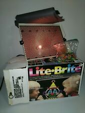 Lite Brite Vintage 1991 Hasbro - Lots Of  Pegs & used & new Sheets WORKS w/ Box