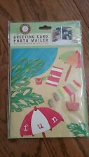 Picture Post Greeting Card Photo Mailer Beach Vacation 4x6 Holds Up to 8 Prints