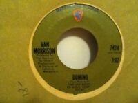 """VAN  MORRISON      7""""  VINYL   SINGLE ,  DOMINO   / SWEET  JANNIE"""