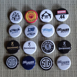 16 NRA / Walther / Browning / Sig Sauer Button / Pins / Badge 1.25 Inch / 32 mm