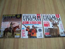 Lot of (3) Field & Stream Magazines, May 2013, August 2013 & November 2014