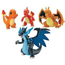 Pokemon TOMY Moncolle Figure Charmander, Charmeleon, Charizard, Mega Charizard X