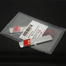 2 Pcs S Line Emblem Chrome Alloy Badge Sticker For AUDI A4 S4 A5 S5 TT Q3 Q5 Q7
