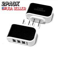 Universal 3.1A Triple USB 3 Port Wall Home Travel AC Charger Adapter US Plug.