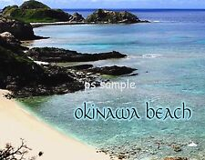 Japan - OKINAWA BEACH - Travel Souvenir Fridge MAGNET