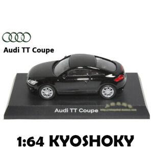 Black Kyosho 1:64 AUDI TT Coupe Diecast Model Car Mint 1/64 2007 limited edition