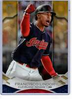 Francisco Lindor 2019 Topps Tribute 5x7 Gold #36 /10 Indians
