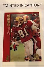 TERRELL OWENS 1997 Topps MINTED IN CANTON - SAN FRANCISCO 49ers