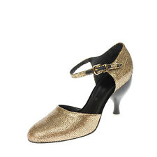 RRP €175 TIPE E TACCHI D'Orsay Shoes Size 38 UK 5 US 8 Glitter Made in Italy