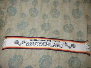 RARE 1990 world cup Germany Deutschland bar scarf scarface scarves jersey shirt