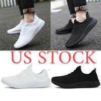 Men's Fly-knit Running Breathable Tennis Shoes Casual Sports Athletic Sneakers