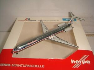 "Herpa Wings 500 American Airlines AA MD-83 ""1990s colors - Polish"" 1:500 NG"