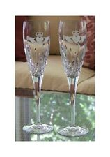 Claddagh Wedding Champagne Toasting Flutes Made in Ireland Galway Irish Crystal