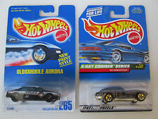 HOT WHEELS LOT OF 2  OLDSMOBILE AURORA POLICE K9 & 63 CORVETTE X RAY SERIES