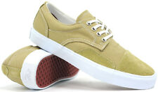 Vans Zero Lo Khaki/White Men's Skate Shoes Size 7