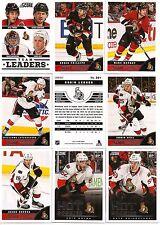 2013-14 Panini Score Ottawa Senators Complete Team Set (23)
