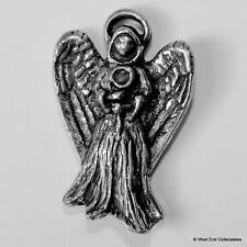 Angel Pewter Pin Brooch -British Hand Crafted- Halo Spiritual Religious Figure