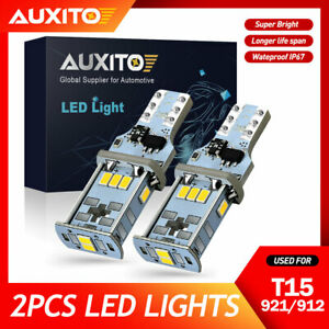 AUXITO CANBUS T15 921 912 LED Back Up Reverse Light Bulbs 6500K Xenon White CN